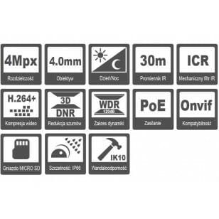 Kamera HQ-MP4040VD-IR