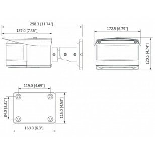 Kamera DH-IPC-HFW2220RP-VFS-IRE6